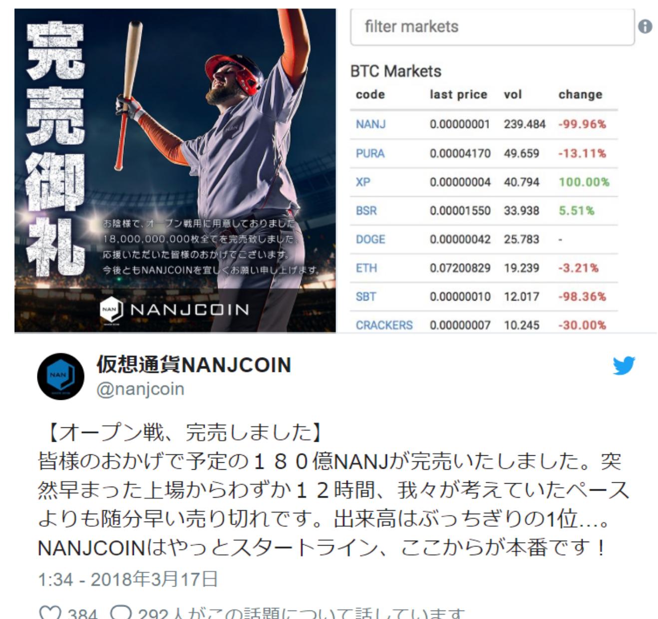 NANJコイン オープン戦