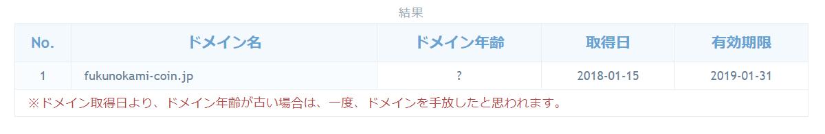 必勝仮想通貨塾 ドメイン取得日