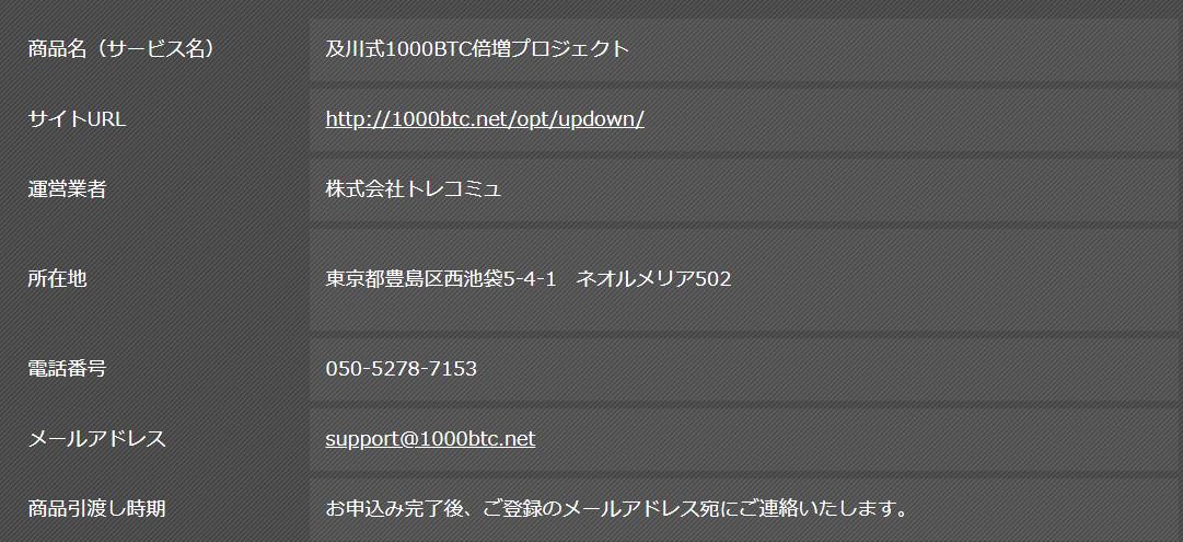 1000BT倍増プロジェクト 登録特典