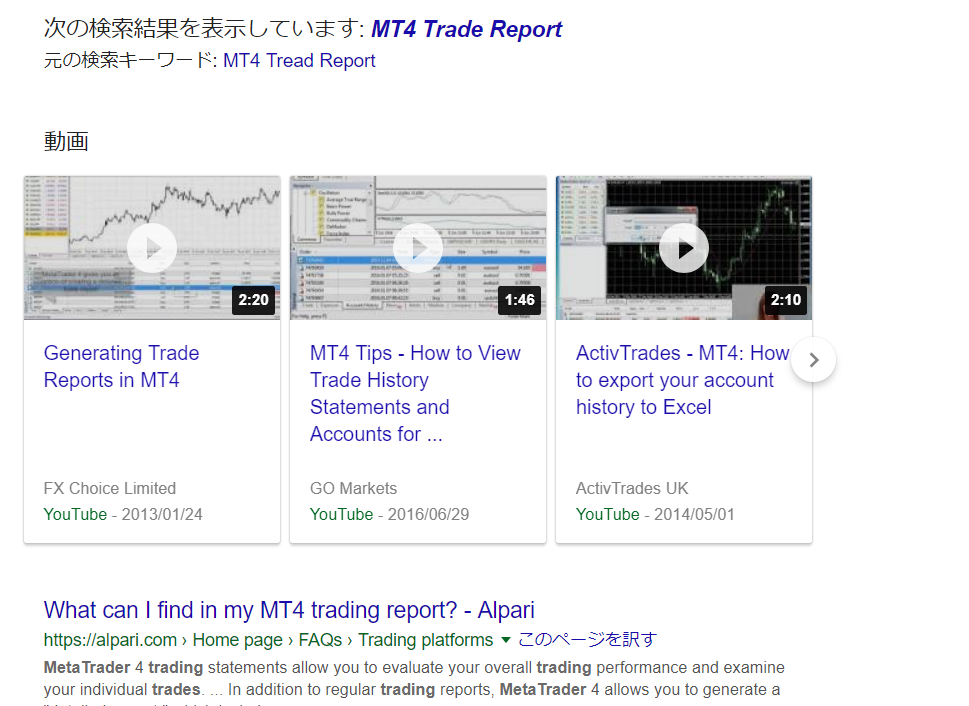 MT4 Tread Report 検索結果