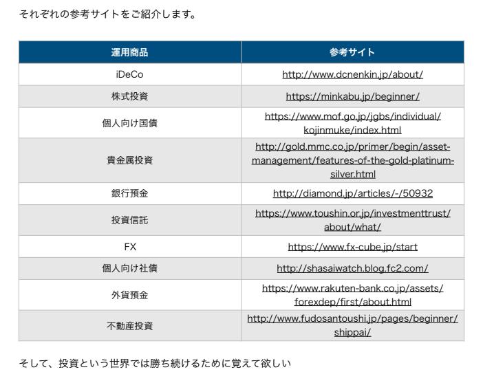 参考サイトのURL