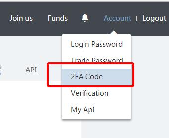 2FA Code 選択